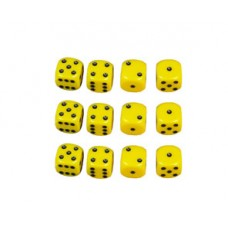 12 x D6 Yellow Dice (Add-On)